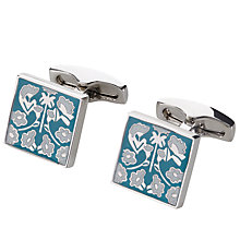 Buy Simon Carter Daisychain Print Semi Precious Cufflinks Online at johnlewis.com