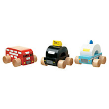 Buy Orange Tree Wooden London Vehicles, Pack of 3 Online at johnlewis.com