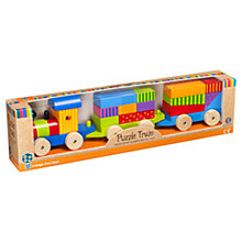 Buy Orange Tree Wooden Puzzle Train Online at johnlewis.com