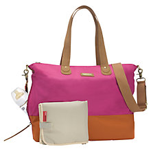 Buy Storksak Tote Changing Bag, Fuchsia Online at johnlewis.com