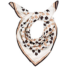 Buy Jaeger Dogtooth Check Scarf, Ivory / Black Online at johnlewis.com