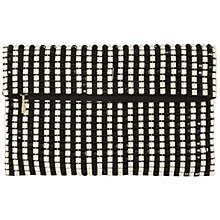 Buy Jaeger Graphic Bead Clutch, Black / Stone Online at johnlewis.com
