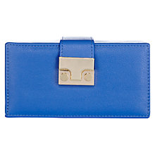 Buy Warehouse Mini Lock Box Clutch Bag, Bright Blue Online at johnlewis.com