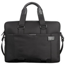 "Buy T-Tech by Tumi Slim Double Zip 15.5"" Laptop Briefcase, Black Online at johnlewis.com"