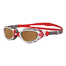 Buy Zoggs Predator Flex Polarised Swimming Goggles, Copper/Red Online at johnlewis.com