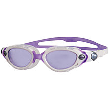 Buy Zoggs Predator Flex Swimming Goggles, White/Purple Online at johnlewis.com