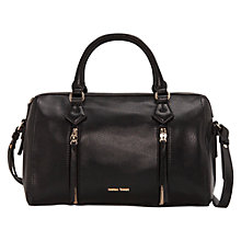 Buy Mango Zip Tote Handbag, Black Online at johnlewis.com