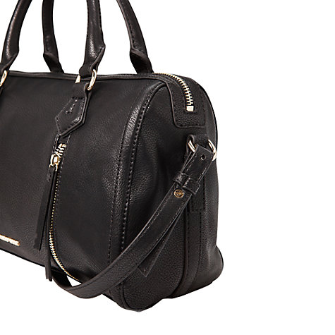 Buy Mango Zip Tote Bag, Black Online at johnlewis.com