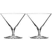 Buy Waterford Elegance Martini Glasses, Set of 2 Online at johnlewis.com
