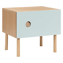 Buy John Lewis Spot 1 Door Bedside Table, Blue Online at johnlewis.com