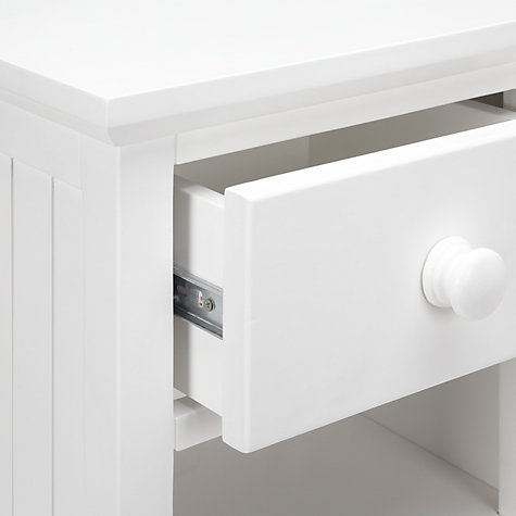 Buy little home at John Lewis Hickory Bedside Table, White Online at johnlewis.com