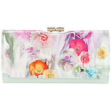 Buy Ted Baker Henlor Print Matinee Purse, Green Online at johnlewis.com