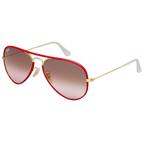 Buy Ray-Ban RB3025JM 001/X3 New Aviator Sunglasses, Red Online at johnlewis.com