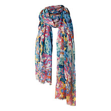 Buy Fat Face Bright Floral Scarf, Pink Online at johnlewis.com