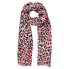 Buy COLLECTION by John Lewis Neon Animal Print Scarf, Pink Online at johnlewis.com