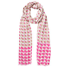Buy John Lewis Mini Elephant Print Scarf, Taupe Online at johnlewis.com