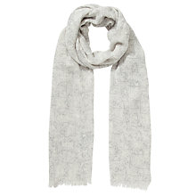 Buy Kin by John Lewis Marble Print Scarf, Grey Online at johnlewis.com
