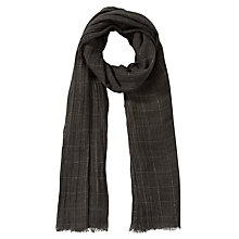 Buy John Lewis Grid Check Shimmer Scarf, Grey Online at johnlewis.com