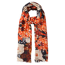 Buy John Lewis Digital Layered Floral Scarf, Orange Online at johnlewis.com