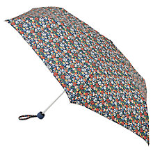 Buy Cath Kidston Mini Lite Mews Ditsy Umbrella, Blue Online at johnlewis.com