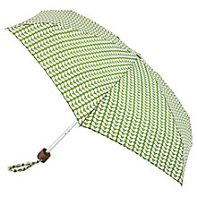 Buy Orla Kiely Stem Print Folding Umbrella, Green Online at johnlewis.com