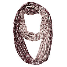 Buy Kin by John Lewis Pin Dot Reversible Snood, Red Online at johnlewis.com