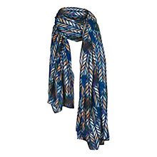 Buy Fat Face Wave Pattern Scarf, Blue Online at johnlewis.com