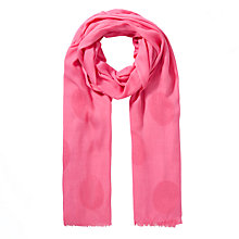 Buy John Lewis Spot Basket Weave Scarf, Pink Online at johnlewis.com