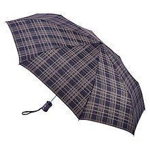 Buy Fulton Hoxton Menzies Check Umbrella, Black Online at johnlewis.com