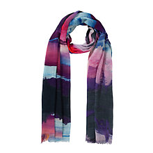 Buy COLLECTION by John Lewis Surreal Landscape Scarf, Multi Pink Online at johnlewis.com
