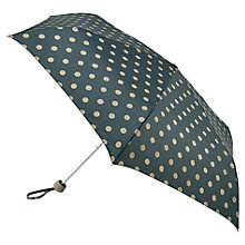 Buy Cath Kidston Mini Lite Spot Umbrella, Forest Green Online at johnlewis.com