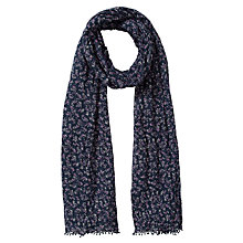 Buy COLLECTION by John Lewis Prairie Floral Print Scarf, Navy Online at johnlewis.com