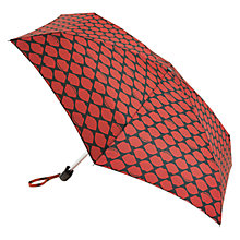 Buy Lulu Guinness Tiny Lips Umbrella, Black/Red Online at johnlewis.com