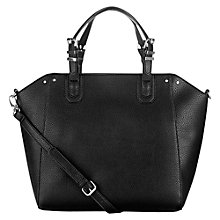 Buy Warehouse Rivet Detail Tote Handbag, Black Online at johnlewis.com