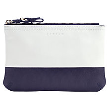 Buy Jigsaw Two Tone Leather Make Up Bag Online at johnlewis.com