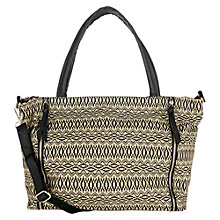Buy Warehouse Double Zip Canvas Shopper Handbag Online at johnlewis.com