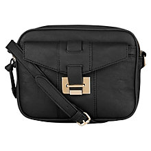 Buy Warehouse Hardware Detail Crossbody Handbag, Black Online at johnlewis.com