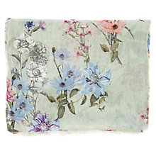 Buy Warehouse Fluted Floral Print Scarf, Mint Online at johnlewis.com