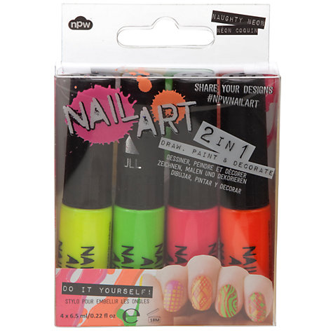 Buy Nail Art Neon Nail Polish Set, Pack of 4, Multi Online at johnlewis.com
