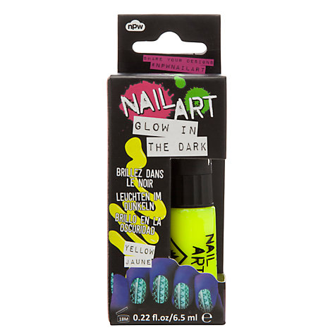 Buy Glow In Dark Nail Polish, Yellow Online at johnlewis.com