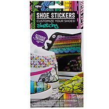 Buy Sketchy Artwork Shoe Stickers, Multi Online at johnlewis.com
