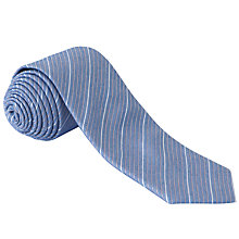 Buy CK Calvin Klein Silk Blend Tie, Pale Blue/White/Brown Online at johnlewis.com