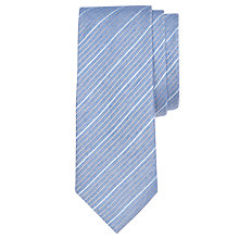Buy CK Calvin Klein Melange Silk Blend Stripe Tie, Pale Blue Online at johnlewis.com