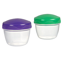 Buy Sistema Yoghurt To Go Containers, Set of 2 Online at johnlewis.com