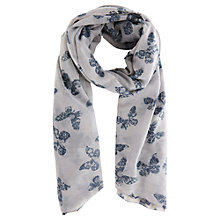 Buy Oasis Butterfly Print Scarf, Black/White Online at johnlewis.com