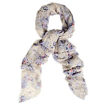 Buy Oasis Spot and Rose Print Scarf, White/Lilac Online at johnlewis.com