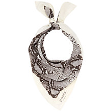 Buy Hobbs Silk Snake Print Scarf, Multi Online at johnlewis.com