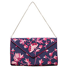 Buy East Damask Rose Florella Clutch Bag, Atlantic Blue Online at johnlewis.com
