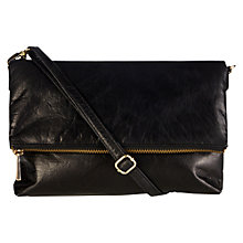 Buy Oasis Celeste Leather Foldover Clutch Handbag Online at johnlewis.com