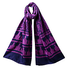 Buy East Habutai Print Silk Scarf, Pink Online at johnlewis.com